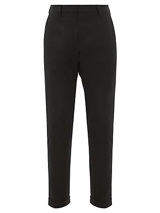 Paul Smith Slim Fit Cotton Blend Twill Chino Trousers - Mens - Black