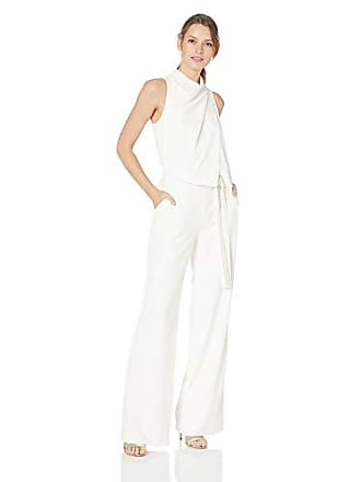 6998f75989aa Halston Heritage Womens Sleeveless Cowl Drape Jumpsuit w Sash