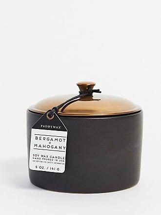 Paddywax HYGGE Bergamot & Mahogany Ceramic Candle in Black-No Colour