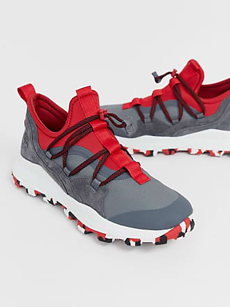 Timberland Brooklyn hiker sneakers in gray and red - Gray