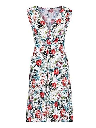 ae2c10c1ba9734 Madeleine Ärmelloses Strandkleid mit Blumenprint Damen weiss/multicolor /  blau