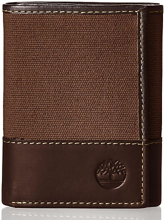 82ca0d0b7e13 Timberland Mens Canvas   Leather Trifold Wallet