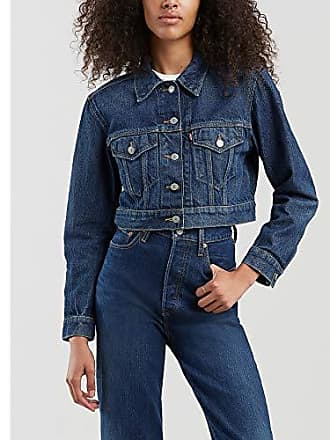 Levi's Womens Cropped Trucker Jackets Outerwear,Sharp Cookie, XS