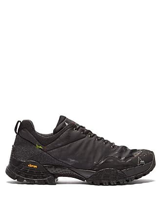 Roa Oblique Paint Spattered Low Top Trainers - Mens - Black