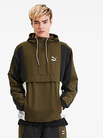 Puma Tailored For Sport Mens Jacket, Dark Olive, size 2X Large, Clothing