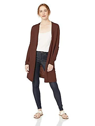 Daily Ritual Womens Lightweight Duster Cardigan, Burgundy, X-Large