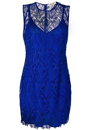 Diane Von Fürstenberg Vestido de renda - Azul