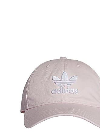 finest selection fd2a6 c5e2a adidas Originals Mens Trefoil Classic Cap, Clear Pink White, OSFY