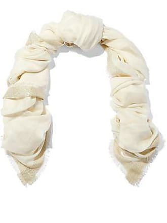 Diane Von Fürstenberg Diane Von Furstenberg Woman Metallic-trimmed Wool-blend Gauze Scarf Ivory Size