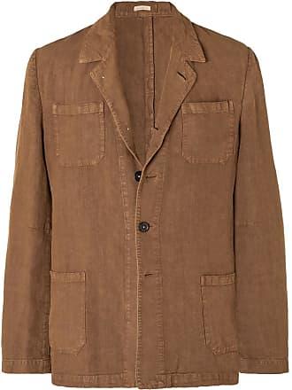 Massimo Alba Brown Unstructured Linen Blazer - Brown