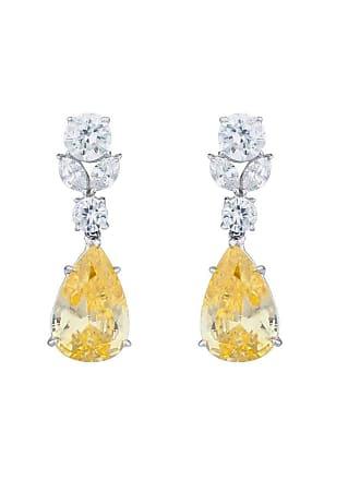 Fantasia Sterling Silver & Palladium Canary Teardrop Earrings