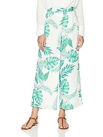 J.O.A. JOA Womens Palms Printed Wide Leg Pants with Side Pockets, L