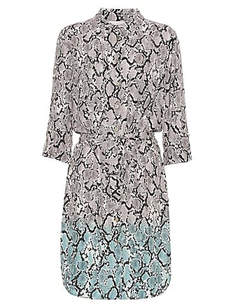 Heidi Klein Mombasa snake-effect shirt dress
