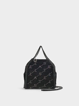 2703112373bb Stella McCartney Tiny Falabella Bag With Crystals in Black Eco Leather