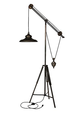 A & B Home AB Home Industrial Pully Tripod Floor Lamp - 36913
