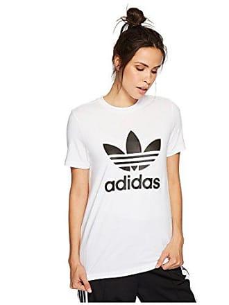 adidas Originals Womens Trefoil Tee, White/Black, XS