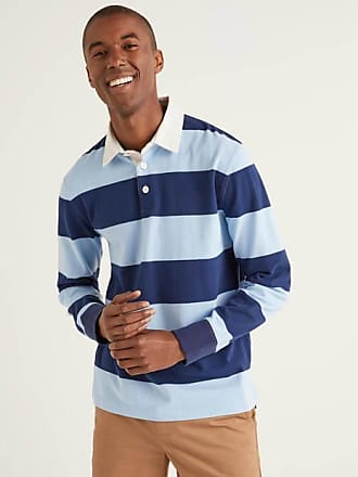 Theory Mens Barrel Stripe Rugby Polo
