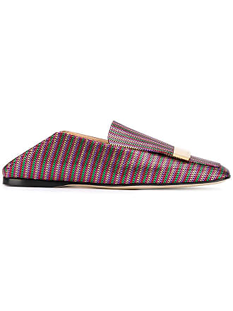 Sergio Rossi woven-style loafers - Vermelho