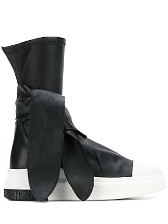 Cinzia Araia tie-detail sneaker boots - Black