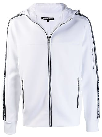 Michael Michael Kors appliqué stripe hooded jacket - White