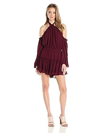 tbagslosangeles Tbags Los Angeles Womens Indi Dress, Burgundy S