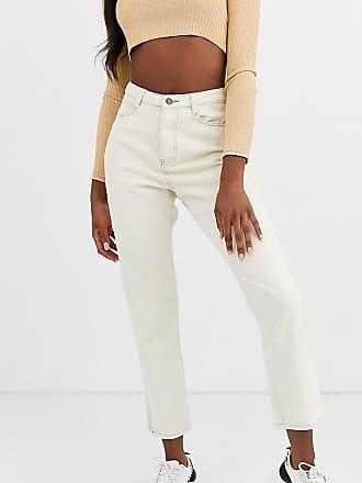 Missguided Tall Wrath - Gerade geschnittene Jeans in Ecru-Cremeweiß