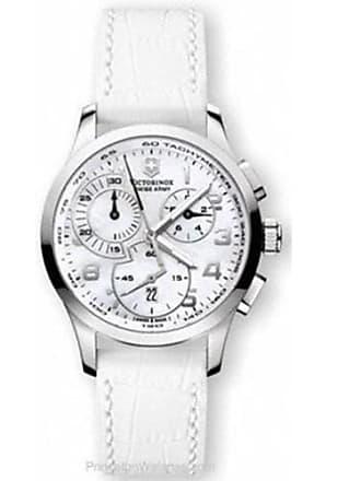 Victorinox by Swiss Army Swiss Army Womens Alliance 241321 White Leather Swiss Quartz Watch