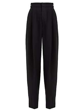 Joseph Linn High Rise Wide Leg Trousers - Womens - Black