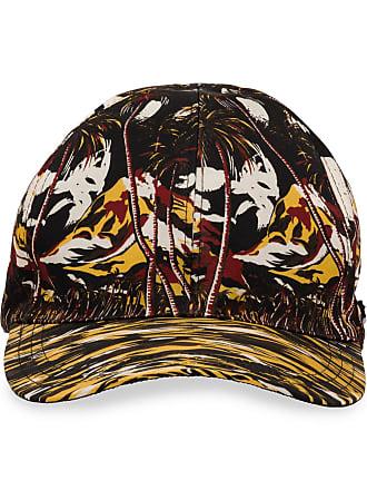 Prada tropical-print cap - Amarelo