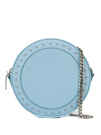 Balmain Bolsa Disco de couro com textura - Azul