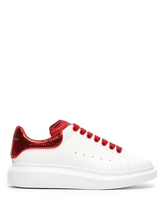 de1a5073aee7 Delivery  free. Alexander McQueen Alexander Mcqueen - Raised Sole Low Top  Leather Trainers - Mens - Red White