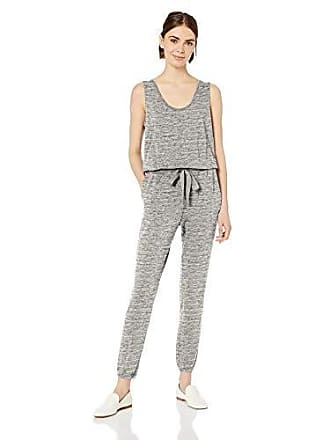 Daily Ritual Womens Supersoft Terry Sleeveless Jumpsuit, Heather Grey Spacedye, X-Large