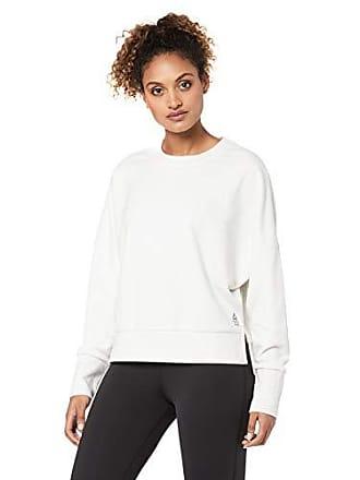 4848b34a Reebok Womens Crossfit Terry Crew Sweatshirt, White Melange, XS
