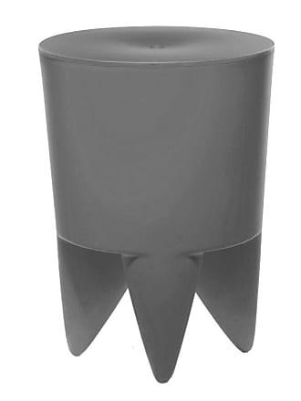 XO Design Bubu Ier Hocker - soft grau/durchgefärbt/H 43cm/Ø 32,5cm