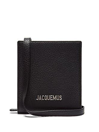 Jacquemus Le Gadjo Xs Leather Necklace Bag - Mens - Black