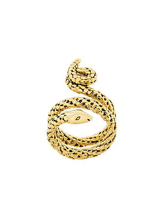 Aurélie Bidermann Anel Snake de ouro - Metálico
