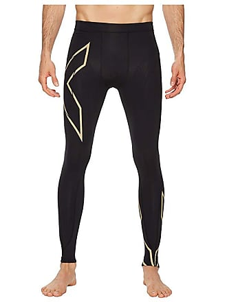 2XU MCS Run Compression Tights (Black/Gold) Mens Workout