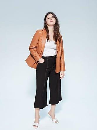 Violeta by Mango Seam-detail culotte trousers