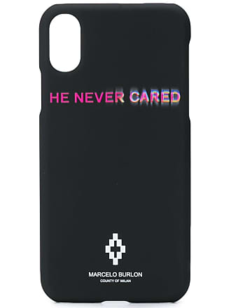 Marcelo Burlon He Never Cared iPhone X case - Preto