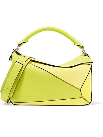 69d67c5891 Loewe Puzzle Small Color-block Textured-leather Shoulder Bag - Yellow