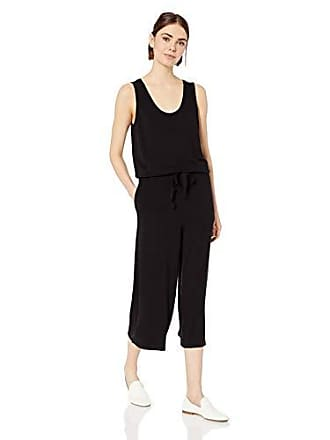 Daily Ritual Womens Supersoft Terry Sleeveless Wide-Leg Jumpsuit, Black, X-Large