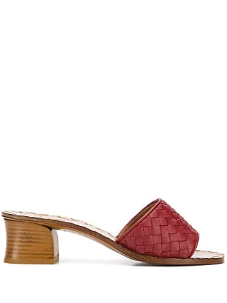 Bottega Veneta intrecciato sandals - Red