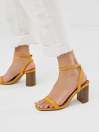 259449da02664c Asos Hong Kong - Sandales minimalistes à talons carrés - Moutarde - Jaune