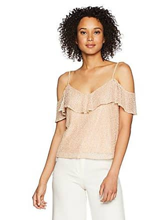 7a070c869cf Jenny Yoo Womens Kate Open Shoulder Flutter Sleeve Beaded Top, Blush, M
