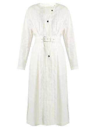 Isabel Marant Ivo Collarless Linen Coat - Womens - White b972e8311e