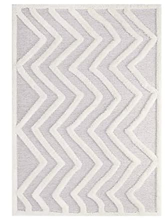 ModWay R-1156A-810 Pathway Abstract Chevron 8x10 Shag Area Rug, Ivory and Light Gray