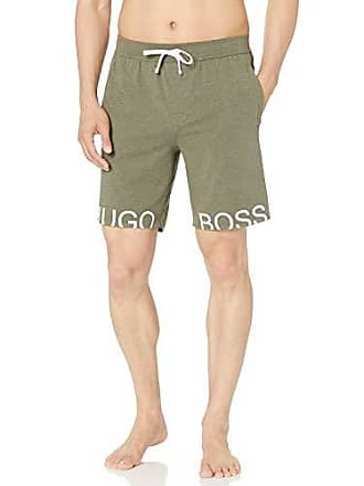 8d5b64c1f HUGO BOSS BOSS Mens Identity Cotton Lounge Shorts, Olive, L