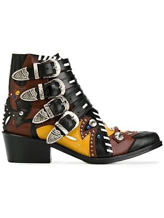 Toga Archives Ankle boot de couro com fivelas - Estampado