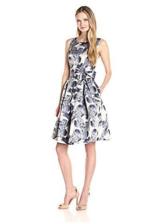 88f2400ad21a6 Jessica Howard Womens Floral Fit & Flare Dress, Navy/Pansy, ...