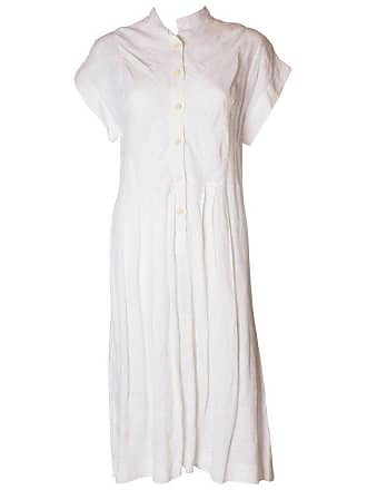 52c1a3c4cea Gucci A Vintage 1980s White Linen Button Front Day Summer Dress By Gucci